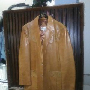Vintage Remy Mens Leather Jacket Size 42 Unworn